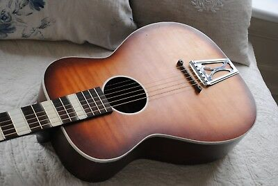 REDUCTION Vintage Harmony USA Stella Airline 60s Parlour Guitar Solid Woods