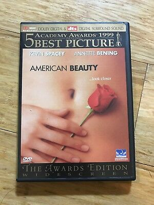 American Beauty DVD 1999 Widescreen Kevin Spacey, Annette Bening