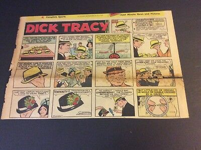 DICK TRACY Sunday Half Page Strip By Chester Gould Nov 10, 1968  HUBERT