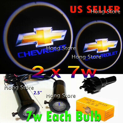2x7w Chevrolet Ghost Shadow Projector Laser Logo LED Courtesy Door Step Lights