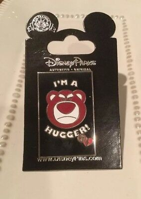DISNEY PIN LOTSO BEAR From TOY STORY  I'M A HUGGER! Retired in 2010 NEW w/CARD
