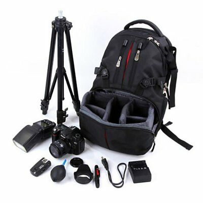 Waterproof DSLR Camera Laptop Bag Lens Case Backpack Rucksack for Canon Nikon SE