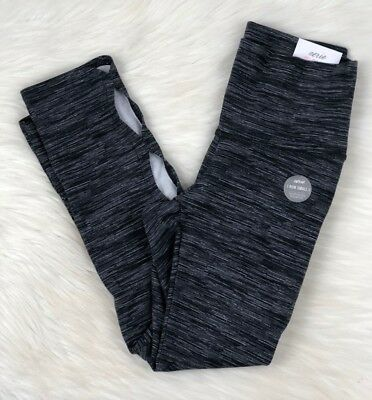 c45b822082a24f AERIE HIGH RISE 3/4 Crop Chill Leggings, Charcoal Gray, Women's Size ...