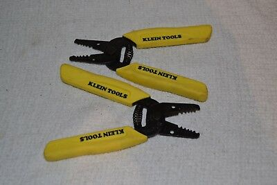 lot of 2 KLEIN TOOLS WIRE STRIPPERS YELLOW HANDLE 6 INCHES NEW