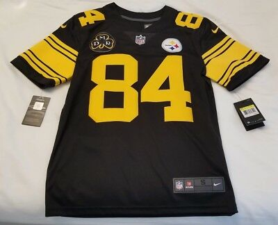 best loved e0a7e f70e4 NEW ANTONIO BROWN Pittsburgh Steelers #84 COLOR RUSH jersey/DMR patch, Small