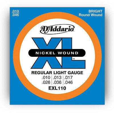 2 x D'ADDARIO EXL110 REGULAR STRING SET DADDARIO ELECTRIC GUITAR STRINGS 10 - 46