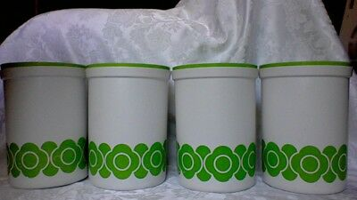 Vintage set of 4 DECOR canisters