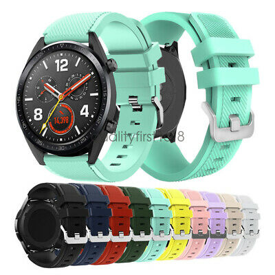 22mm Rugged Silicon Sport Bracelet For Huawei Watch GT Smart Watch Band Strap