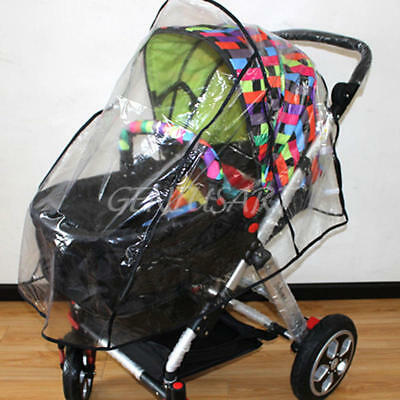Universal Waterproof Baby Stroller Pushchairs Wind Shield Rain Cover Transparent
