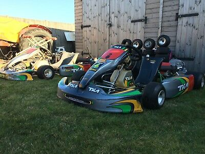 TKM Karts x2 Genuine chassis's with K4S (4 Stroke) and Trailer