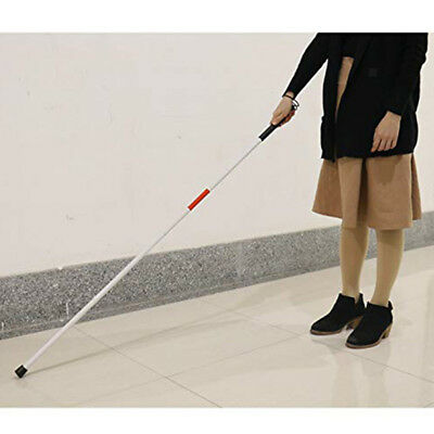 Portable Folding Blind Guide Cane Walking Stick with Wrist Strap Reflector