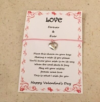 Wish Key Charm Valentine's Day Love Forever Gift Card Various Options Present