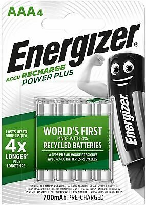 Energizer AAA 700 mAh NiMH Power Plus Pre-Charged Rechargeable Batteries
