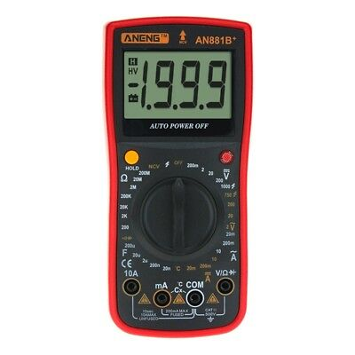 1X(ANENG AN881B+ Digital Multimeter Supports NCV AC DC Auto Meter Tester Te R1H4