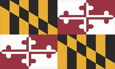 5in x 3in Maryland State Flag Bumper Sticker Vinyl State Flag Vehicle Decal