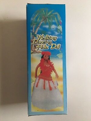 """""""PEARLY SHELLS"""" : Hawaii HULA GIRL : Musical Dancing Doll w/ Red & White Outfit"""