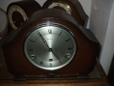 Bentima Perivale  Vintage Art Deco 8 Day Westminster Chime Mantle Clock V G C