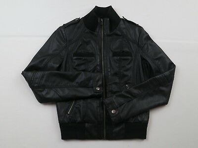 Xhilaration Black Leatherette Jacket Small Excellent Condition