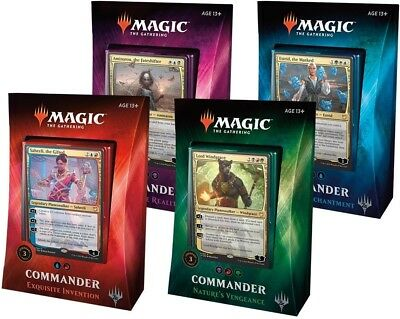 MTG Magic 4x Choose your COMMUN (M/NM) Commander 2018