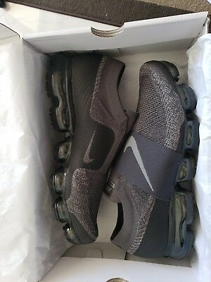 Nike Air Vapormax Flyknit MOC  Size 10.5M MIDNIGHT FOG/DARK STUCCO AH3397 013
