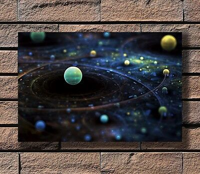 Milky Way Universe Galaxy Science Trippy Poster Fabric 8x12 20x30 24x36 E-795
