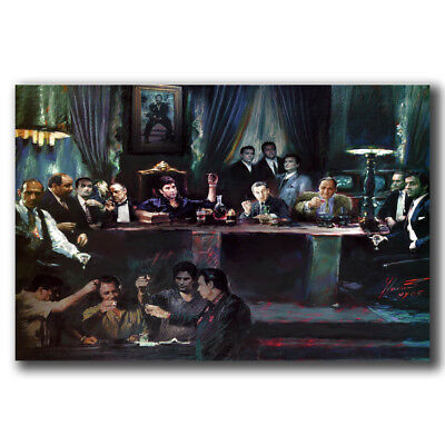 B-414 Al Pacino Scarface Classic Movie Vintage Hot Art Poster 10x15 27x40 Inch