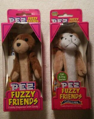 Pez Fuzzy Friends - Brutis the Bulldog & Buddy Bear