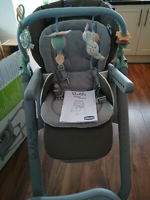 Chicco Polly Magic Relax Highchair 4wheel Anthracite On Sale Was