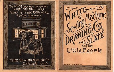 1893 White Sewing Machine Trade Card Drawing Slate For the Little People