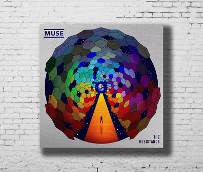 Muse The Resistance Hot Music Rapper New Album Cover 27x27 Fabric Poster E-190