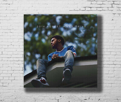 J Cole 2014 Forest Hills Drive Album Cover Rap Music 24 27 Fabric Poster E-844