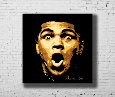 King of Boxing Great Top Player  24x24 27x27 Fabric Poster E-913 Muhammad Ali