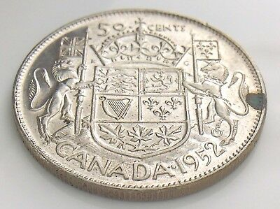 1952 Canada 50 Fifty Cent Half Dollar George VI Canadian Uncirculated Coin I265