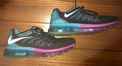 237cc3acf8aa1 Womens Nike Pink Blue Black Air Max Athletic Shoes Size 8.5 Running Sneakers