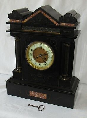 Large French Marble Striking Mantle Clock