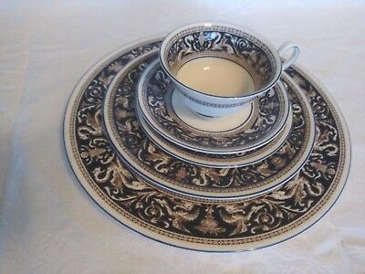 Wedgwood Florentine Dark Blue 5 Piece Place Setting (4 Available )