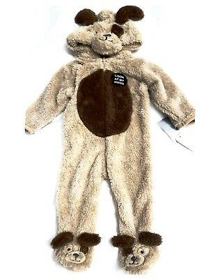 Baby Boys Primark All in one Fluffy Onesuit Pramsuit outwear Bear costume Hooded