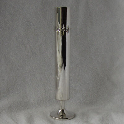 Vintage Silver Plated on Brass Flower/Bud Vase by Cavalier in Original Box