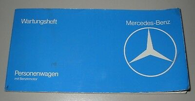 Wartungsheft Mercedes W 123 / W 116 / R 107 SL Inspektionsheft September 1978!