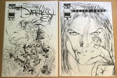 Top Cow Classics The Darkness #1Black & White Sketch 2x Covers Std & Alternate