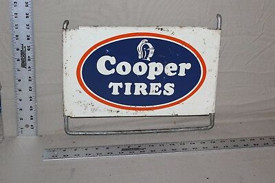 1950's COOPER TIRES METAL DEALER SIGN RUBBER GAS OIL SERVICE GARAGE GOODYEAR 66