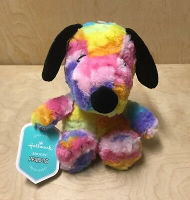 Rainbow Snoopy Plush Toy Hallmark NEW