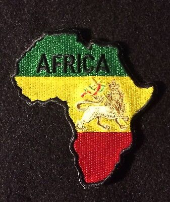 """Rasta Africa Shoulder Embroidered Patches 2.5/""""x5/"""""""