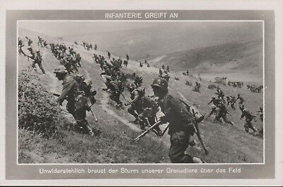 rare German WWII Original Wehrmacht Army Postcards Infantry Attack up Hill 1942