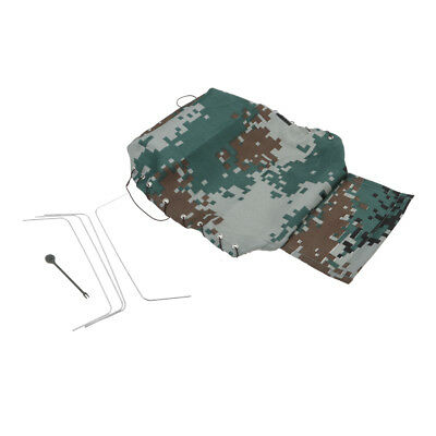 Canvas Truck Hood Cover Cloth For WPL B24 B16 1/16 Vehicle Rock Crawler Part