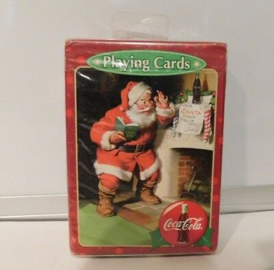 Vintage Christmas Coca Cola Santa Claus Playing Cards Factory New  Sealed #C15