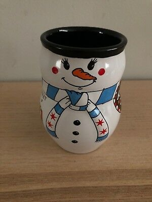 Excellent Condition! Christkindlmarket Kinder Club Snowman Mug 2015