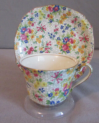 Vintage Chintz James Kent Hydrangea Teacup And Saucer