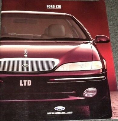 Huge Vgc Nos Never Circulated Ef Nf Df Ltd 302 V8 And 6 Cyl Ford Aust Brochure