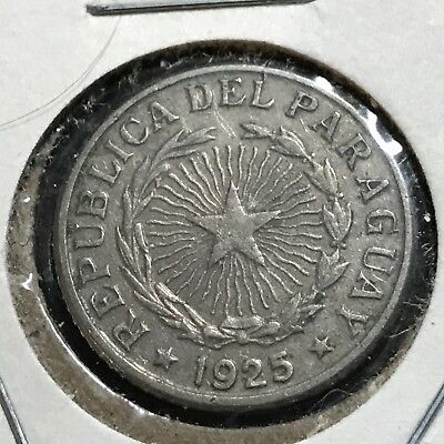 1925 Paraguay One Peso Better Grade Coin